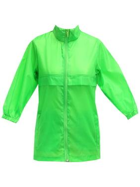 Totes TBP500 BOYS Packable Rain Jacket Neon Green Size 7
