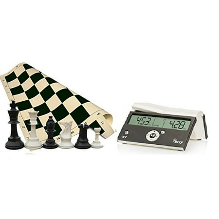 Tournament Chess Set - 34 Chess Pieces - Black Chess Board (20