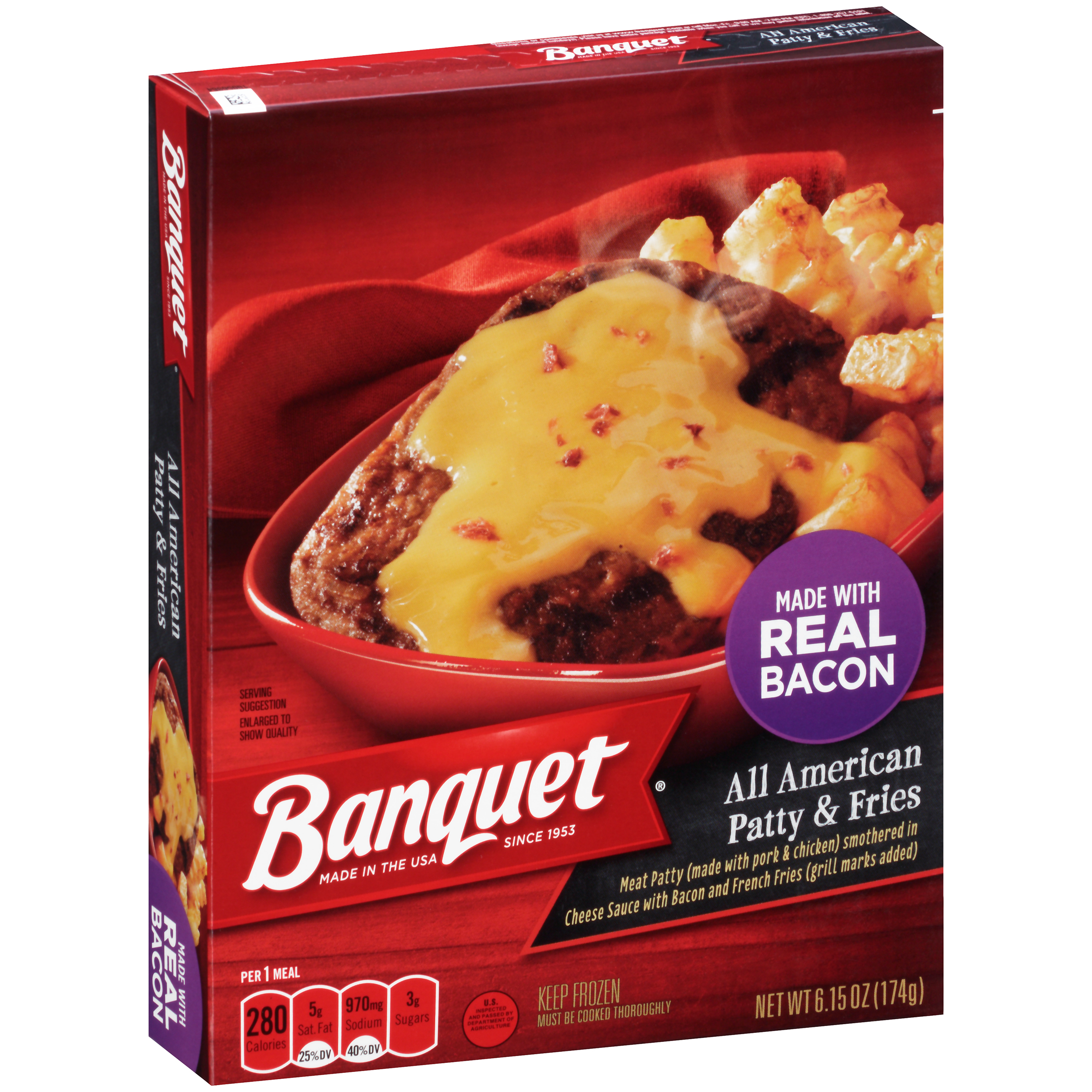 Banquet? All American Patty & Fries 6.15 oz. Box