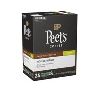 Peet's Coffee Decaf House Blend Dark Roast Coffee K-Cup Pods 24 ct Box