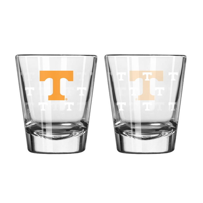 Boelter Brands Tennessee Volunteers Shot Glass - 2 Pack Satin Etch