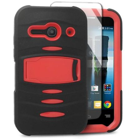 Insten Rubber Dual Layer Hard Phone Case with stand For Alcatel One Touch Evolve 2 -
