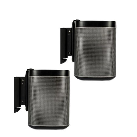 Sonos Play 1 Wireless Speakers And Flexson Wall Brackets   Pair