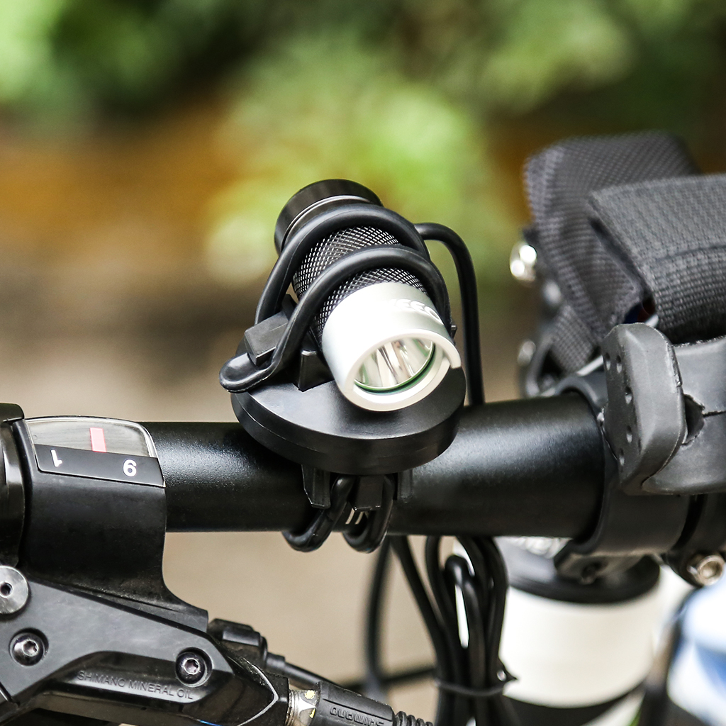 LED Front Bicycle Mountain Bike Head Light-Torch Headlight Riding No Battery