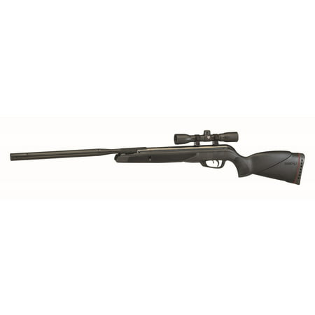 Gamo 6110067854 Whisper Wildcat Break Open Black .177 Pellet Black All Weather Stock w/ 4x32mm (Gamo Whisper Silent Cat 22 Air Rifle)