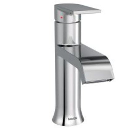 moen 6702 genta single handle centerset bathroom faucet with duralast valve technology and pop-up drain assembly ()