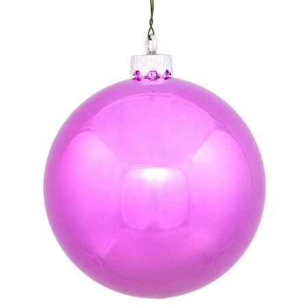 Vickerman 34991 - 4.75 Orchid Shiny Ball Christmas Tree Ornament (4 pack) (N591209DSV)