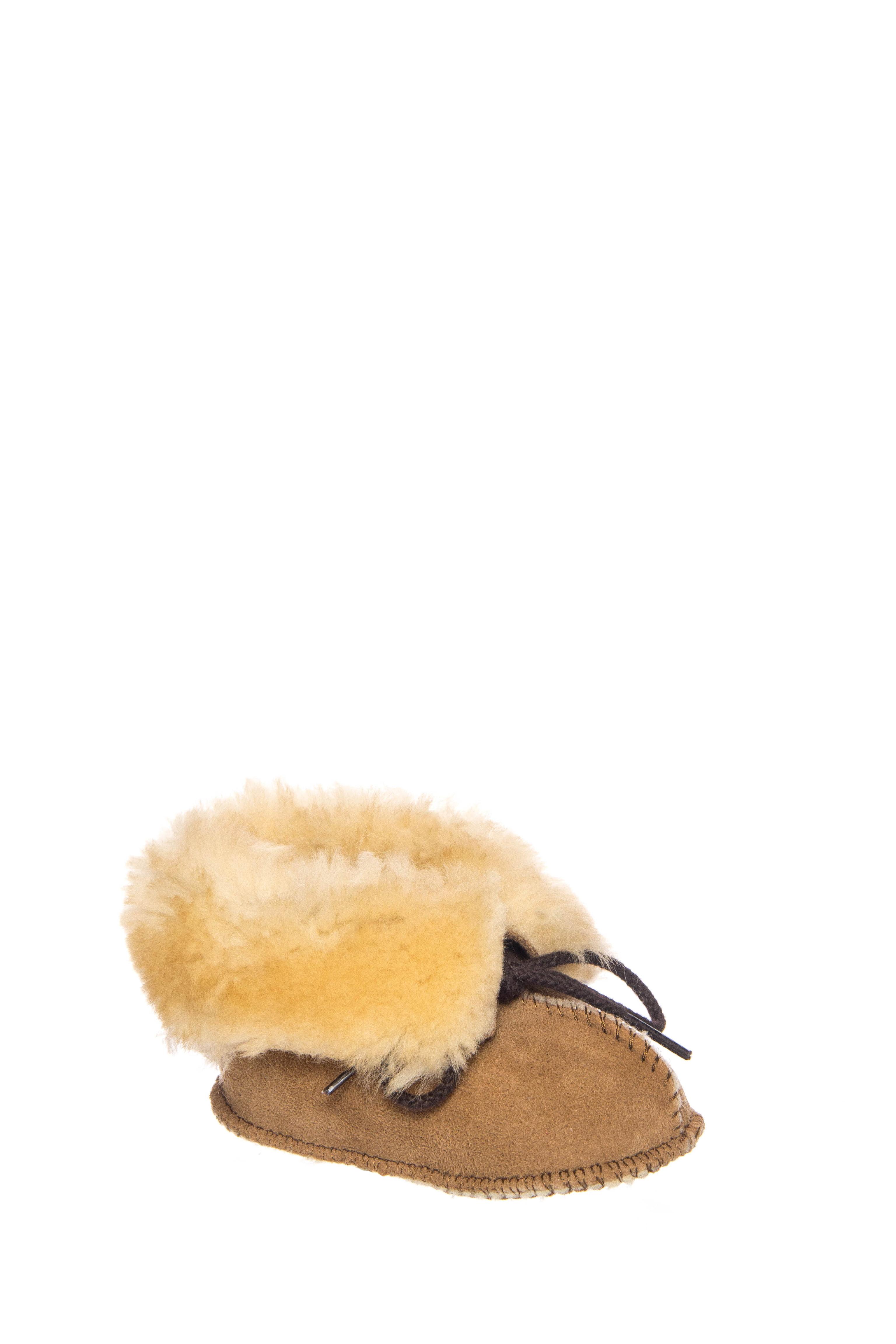 Minnetonka Infant's Sheepskin Bootie Golden Tan by MINNETONKA