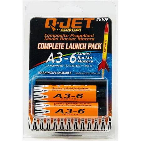 Quest Model Rocket (Quest Rockets QUS6109 A3-6 Model Rocket Motors - Pack of 2)