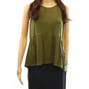 Wild Pearl NEW Green Olive Women's Size Medium M Lace Inset Knit Tank Top