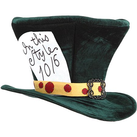 Alice in Wonderland Mad Hatter Hat Adult Halloween Accessory](Firefighter Halloween Hat)