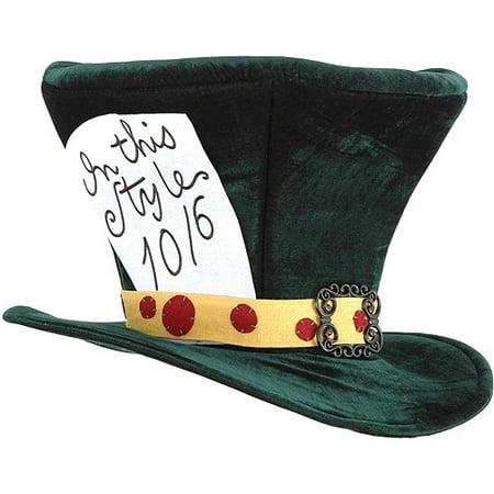 Alice in Wonderland Mad Hatter Hat Adult Halloween Accessory
