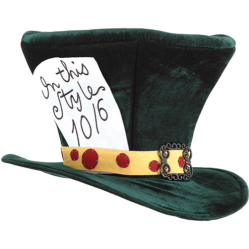 Alice in Wonderland Mad Hatter Hat Adult Halloween Accessory