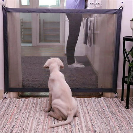 Folding Pet Gate - Safety Gate Portable Folding Safety Guard Mesh Magic Net for Pets Dog Cat