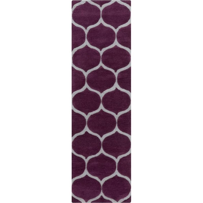 "Surya Mamba 2'6"" x 8' Hand Tufted Runner Rug in Purple"