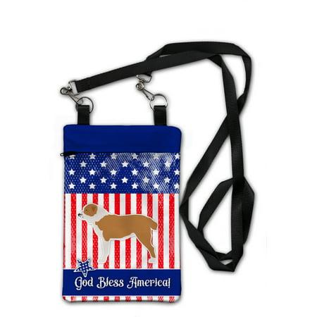 USA Patriotic Central Asian Shepherd Dog Crossbody Bag Purse (Shepherds Purse)