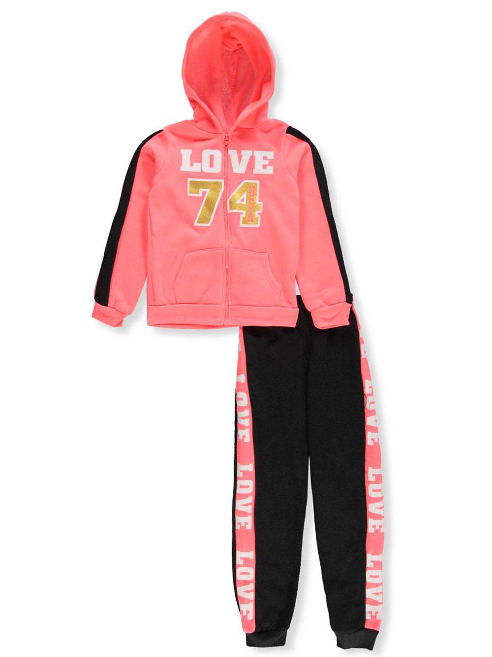 Chillipop Girls' 2-Piece Sweatsuit Pants Set