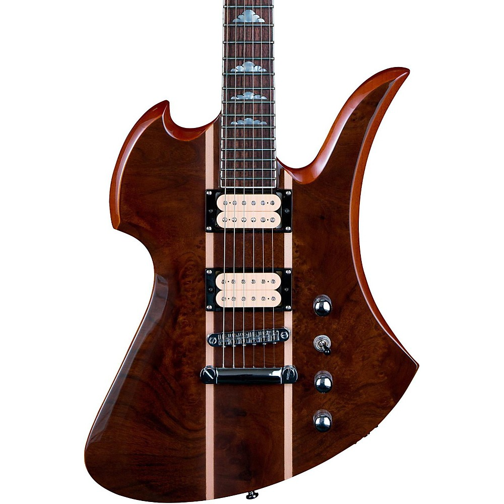B.C. Rich Mockingbird Neck Through with Walnut Burl Top Electric Guitar Gloss Natural by B.C. Rich