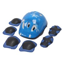 Kids Skateboard Helmet Protective Gear Set, Knee Pads Elbow Pads Wrist Guards and Adjustable Bike Helmets Use for Scooter Cycling Roller Skating