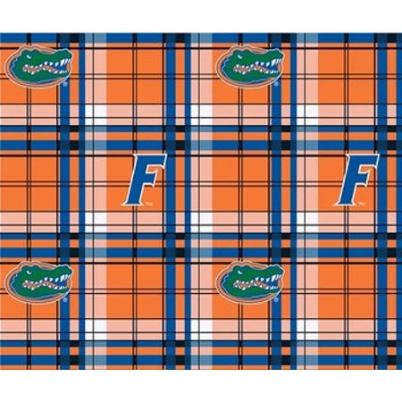 University of Florida Plaid Printed Fleece Design-Sold by the Yard