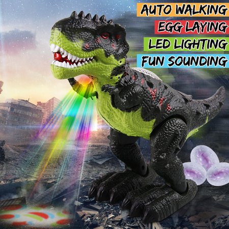 Toy Walking T-Rex Dinosaur - Battery Operated with Lights, Sounds, and Real Movement - Tyrannosaurus Rex by, Mighty t-rex walks, roars Laying eggs - T Rex Model