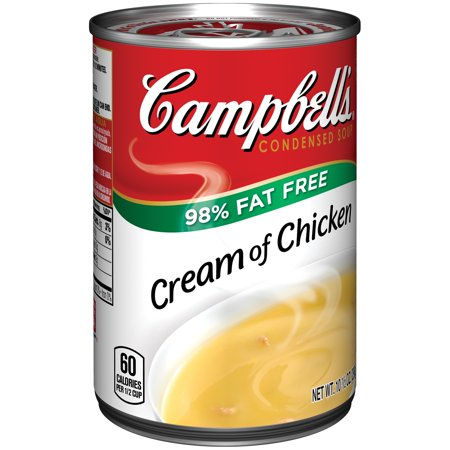 Campbells 98  Fat Free Cream Of Chicken Soup 10 5Oz