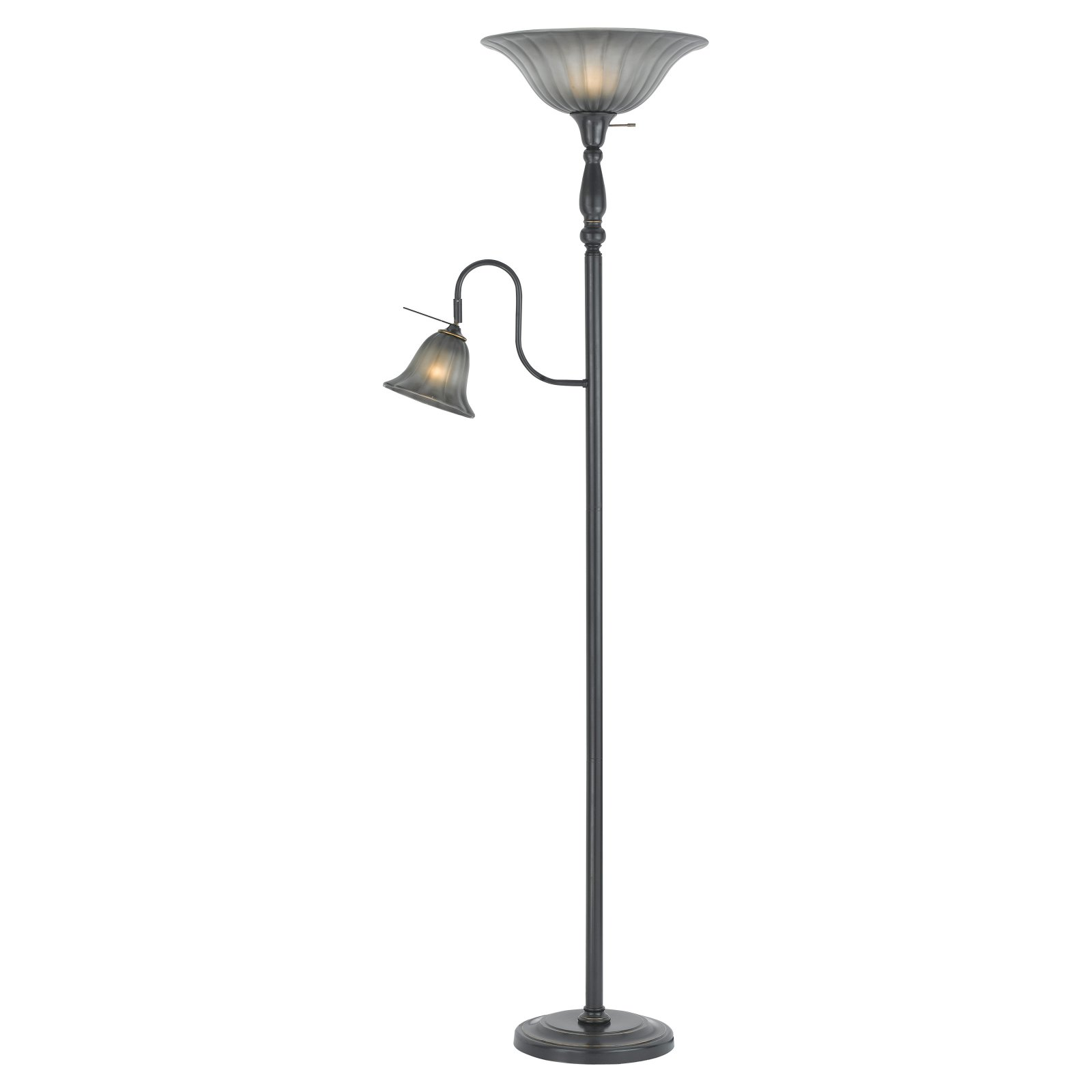 Cal Lighting BO-2052-DB Torchiere and Reading Floor Lamp by CAL Lighting