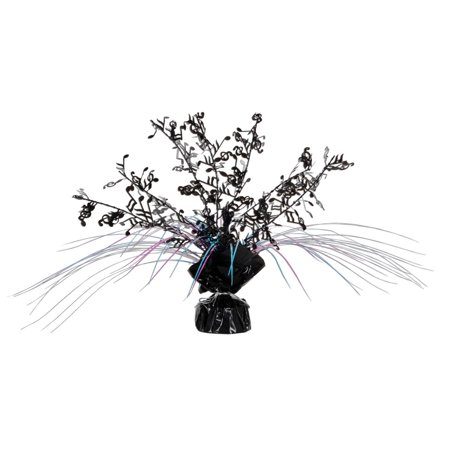 Musical Note Centerpieces (Club Pack of 12 Musical Notes Black, Pink, and Blue Cascading Foil Gleam 'N Spray Centerpieces)