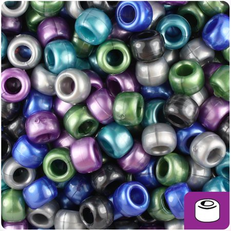 9 Mm Home Defense - BeadTin Cool Mix Pearl 9mm Barrel Pony Beads (500pc)