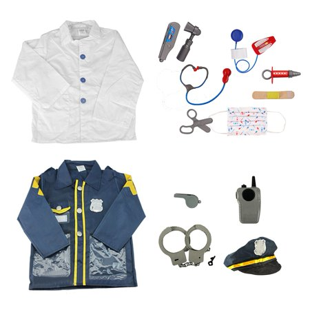 TopTie Police Officer & Doctor Costume For Kids Halloween Role Play Costumes](Halloween Plays For School)