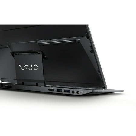 "Refurbished Sony Carbon Black Ultrabook 13.3"" VAIO Duo SVD13213CYB Laptop PC with Intel Core i5-4200U Dual-Core Processor, 4GB Memory, touch screen, 128GB SSD and Windows 8"