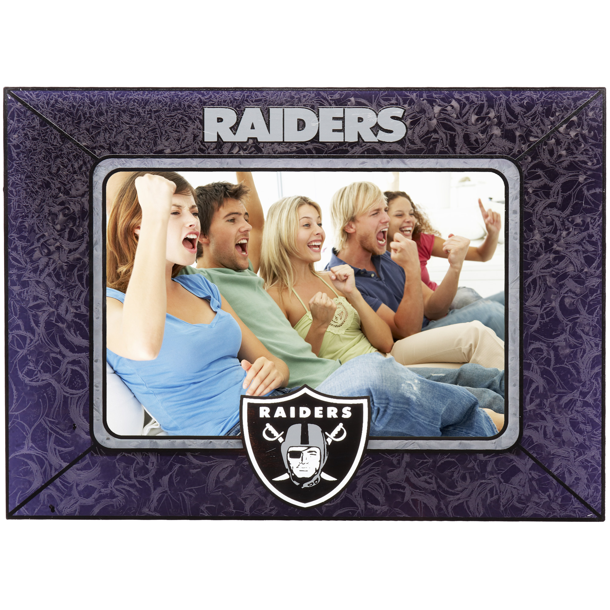 Oakland Raiders Horizontal Art Glass Frame - No Size