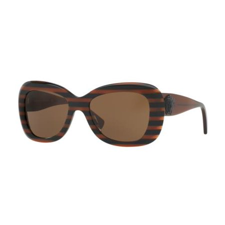 e9cf0f73a55a VERSACE - VERSACE Sunglasses VE4317 518773 Brown Rule Black 54MM -  Walmart.com