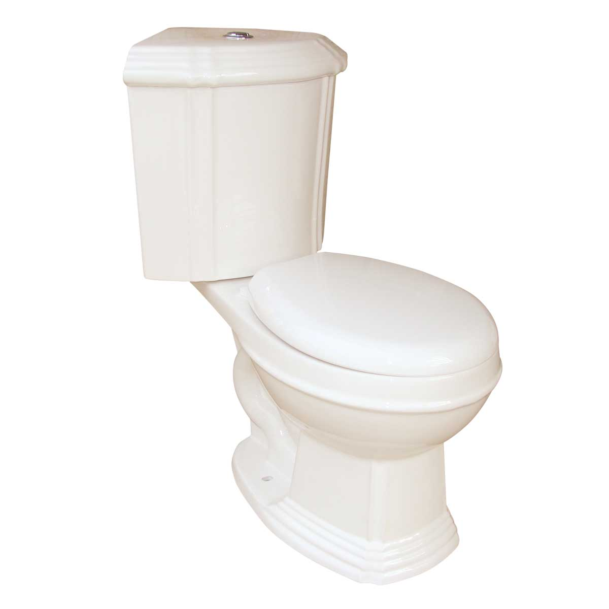 Bone China Round Space Saving Dual Flush Corner Toilet | ...