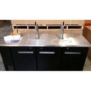 "72"" Back Bar Kegerator Two Single Beer Dispensers Cooler Chiller Commercial Grade Stainless Steel Refrigerator 3..."