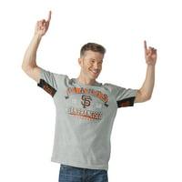 San Francisco Giants G-III Sports by Carl Banks Hands High Power Sweep Fashion T-Shirt - Gray - S