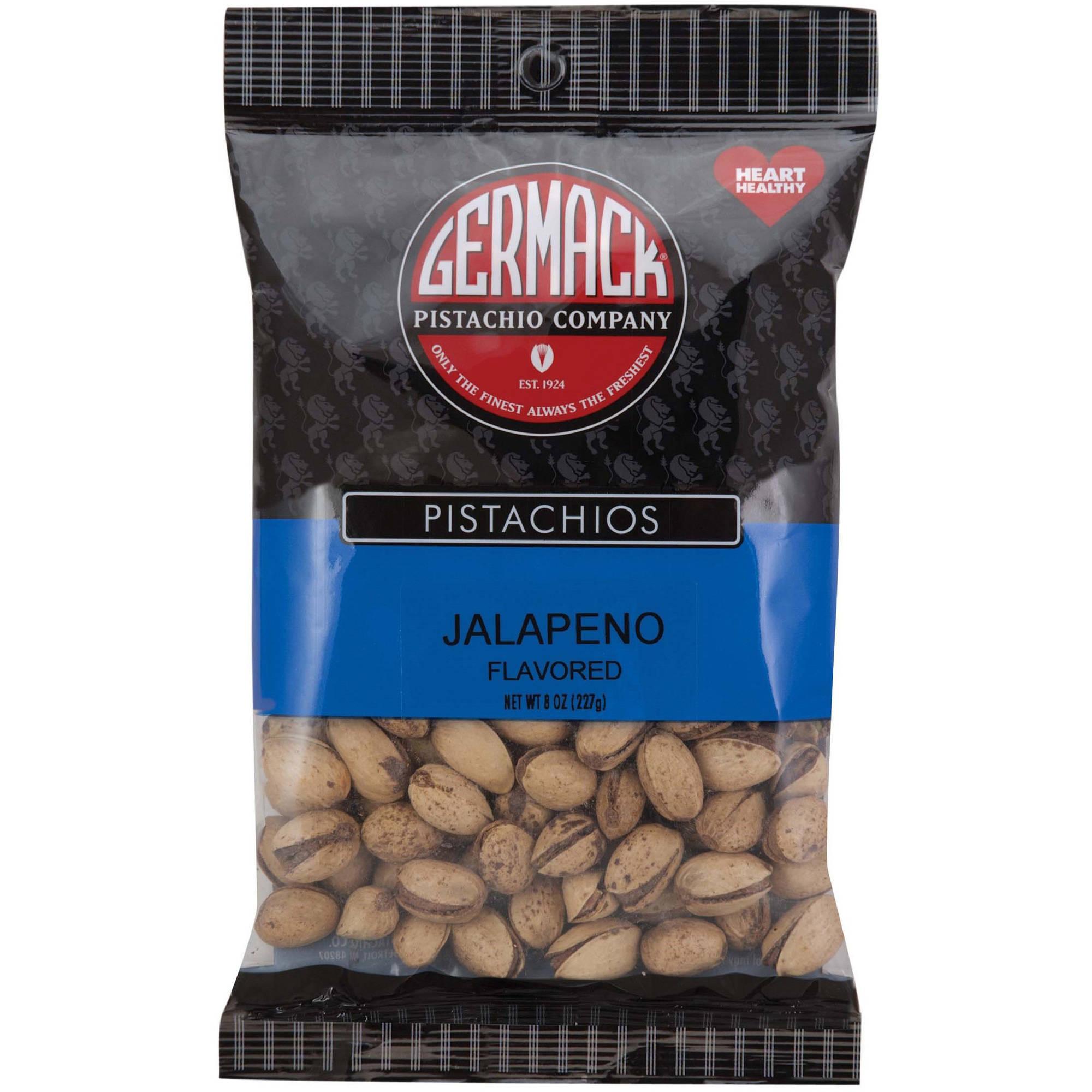 Germack Pistachio Company Jalapeno Flavored Pistachios, 8 oz by GERMACK