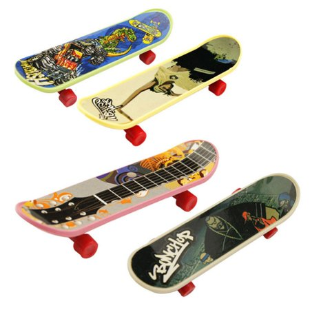 BALIGHT Boys Toys 10Pcs Classic Game Mini Finger Skateboard Stands Scrub Fingerboard for $<!---->