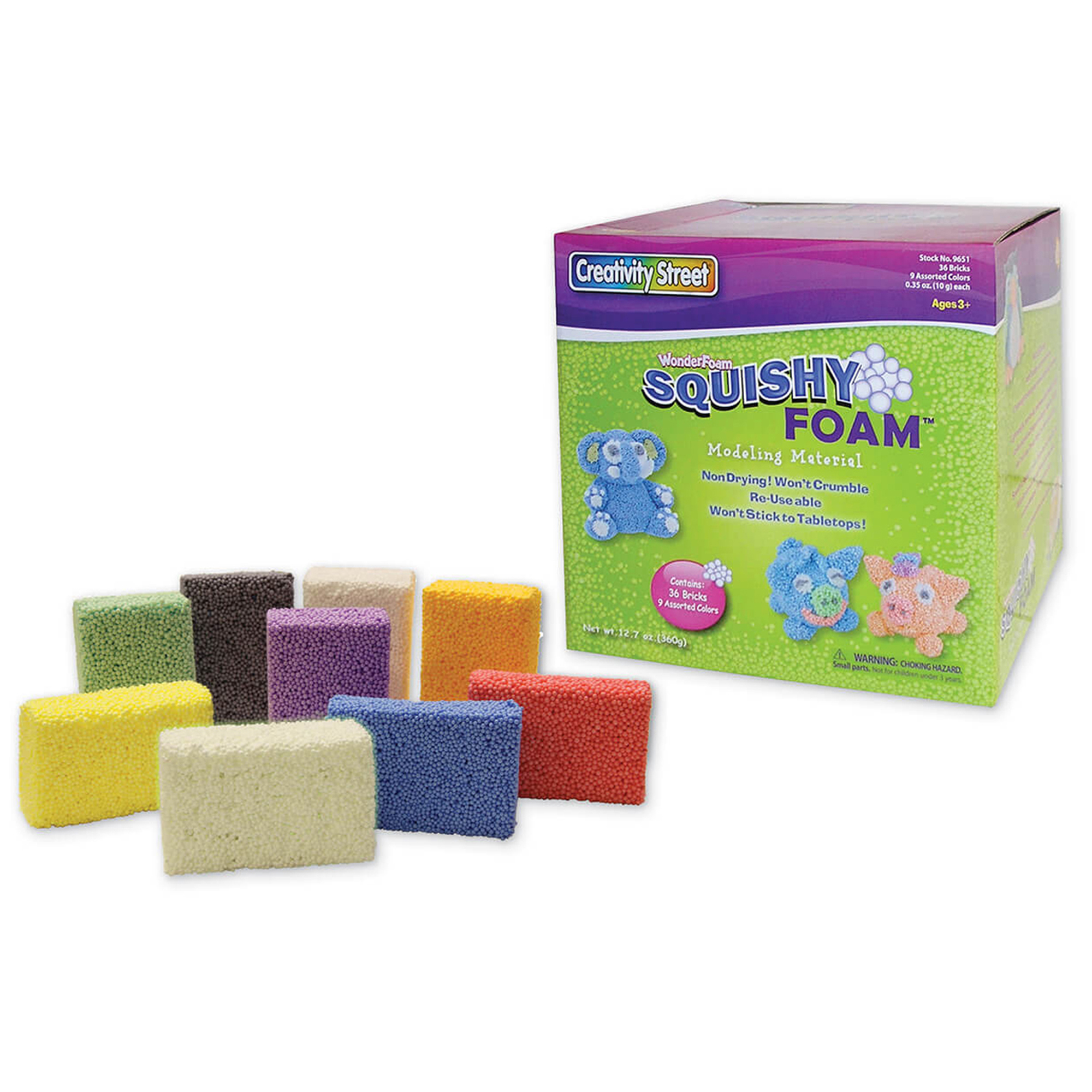 Creativity Street® Squishy Foam® Assortment, 36 per pack