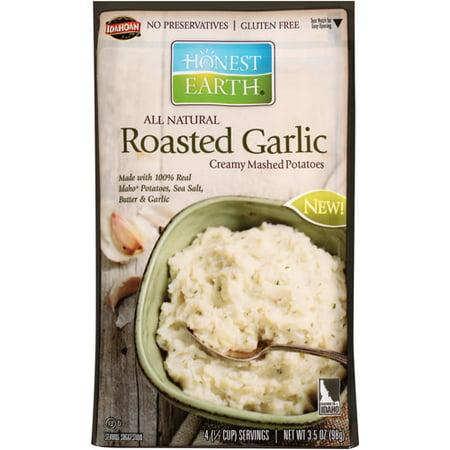 Honest Earth Roasted Garlic Creamy Mashed Potatoes, 3.5 oz - Walmart ...