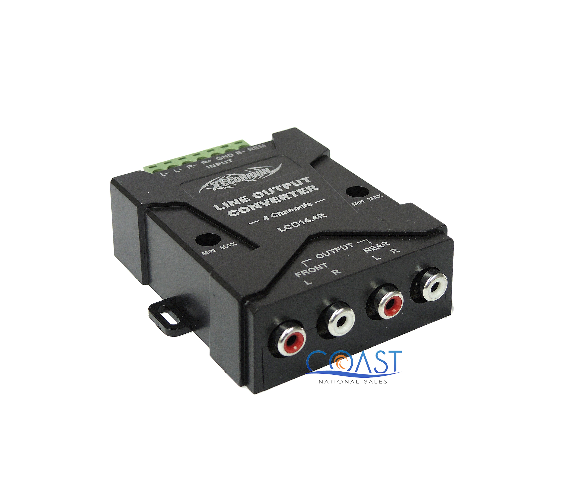 Xscorpion LC014.4R High to Low 4-Channel Line Output Converter with Auto Remote Amp Turn On