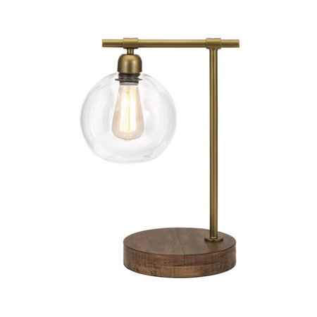 IMAX Corporation Amplitude Glass and Wood Table Lamp in Bronze - image 1 of 1