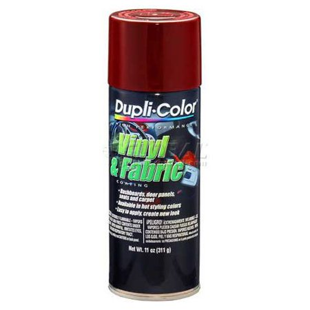 Dupli-Color Vinyl And Fabric Coating Burgundy 11 Oz. Aerosol - Lot of 6