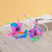 9 Pcs Pretend Play Toys Set Simulation Cleaner Ware Children House Kitchen Floor Cleaning Tool Furniture Brush Toy; 9 Pcs Pretend Play Toys Set Simulation Cleaner Ware Brush Toy