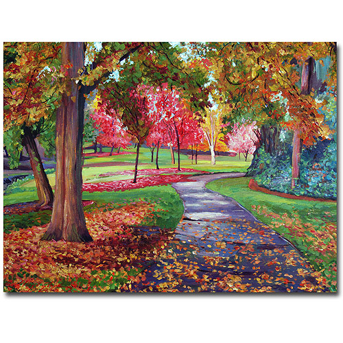 "Trademark Art ""September Park"" Canvas Wall Art by David Lloyd Glover"