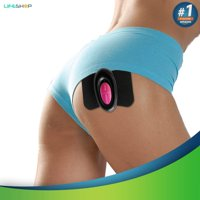 Physiotherapy Brazilian Butt And Thigh Toner- Mini Body Shaper Massage And Cellulite Removal Therapy Controller and Gel Pads (Hot Pink/Black)