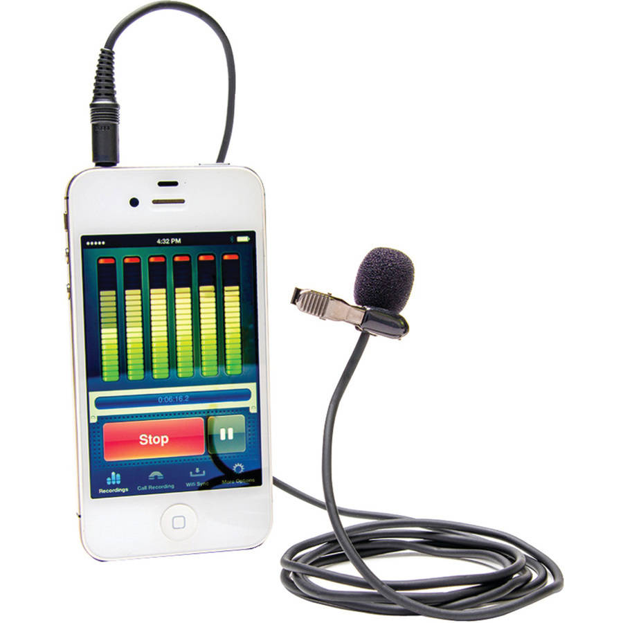Azden EX-503I i-Coustics EX-503 Studio Pro Lapel Microphone for Smartphones and Tablets