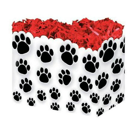 1 Large PAW Prints Animal Dog Puppy Gift Basket Box 10-1/4 X 6 X 7-1/2