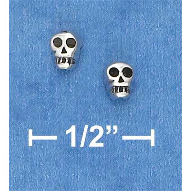 Sterling Silver Mini Skull Earrings On Posts