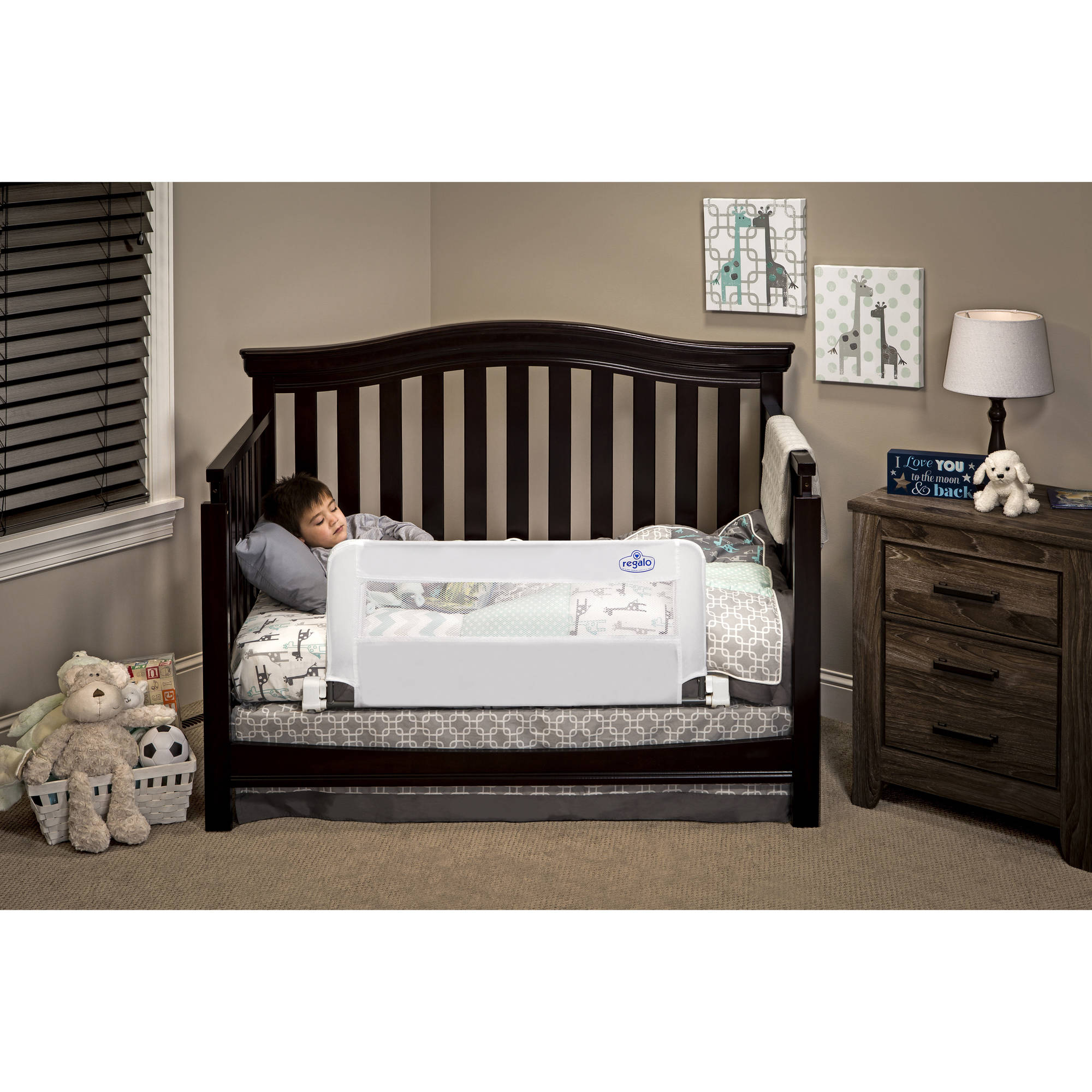 Baby bed at walmart - Regalo Swing Down Convertible Crib Rail 33 Inch Long And 16 Inch Tall Walmart Com